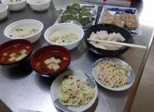 当日のお料理です。